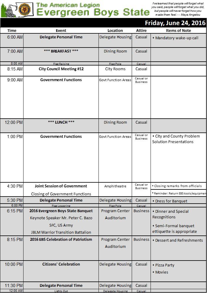 2016 Schedule Fri