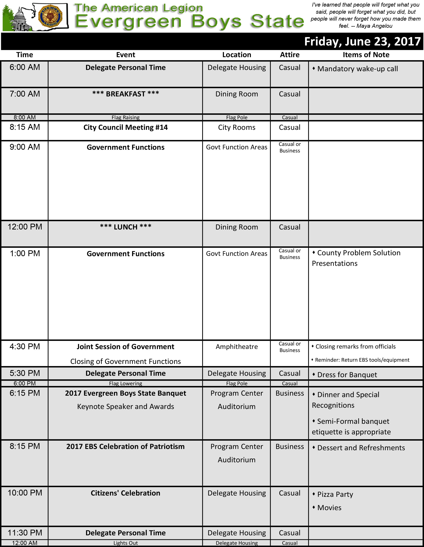 2017 Schedule Fri