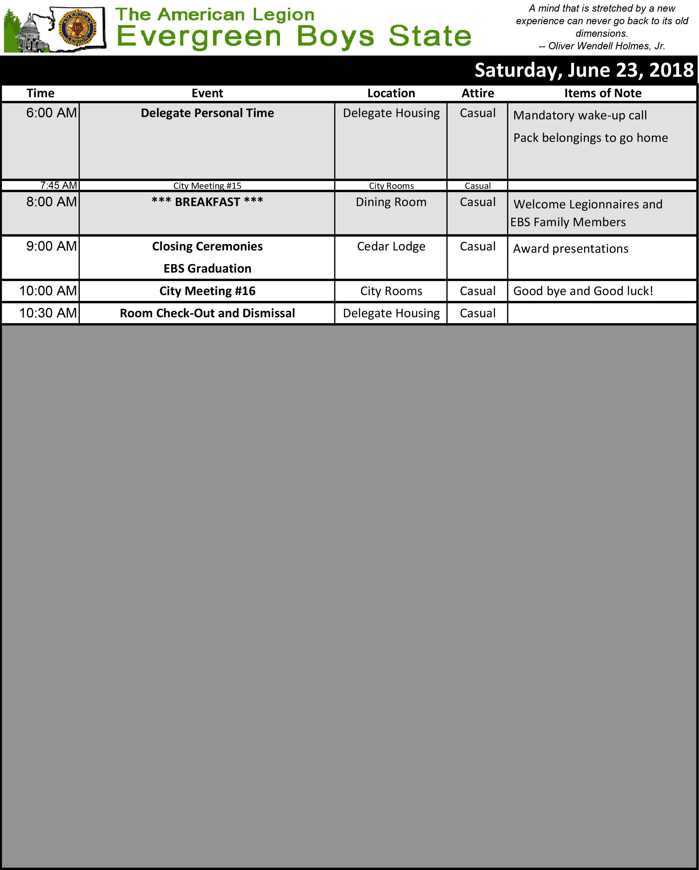 2018 Schedule Sat